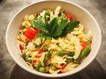Lemon Orzo with Veggies
