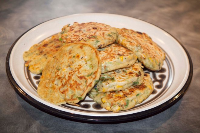 Corn and Cilantro Pancakes