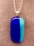 Cobalt and Aqua Blue Pendant