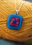 Red and Blue Star Pendant