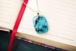 Grunge Texture Aqua Blue Pendant