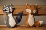 Fox and Raccoon Ornaments