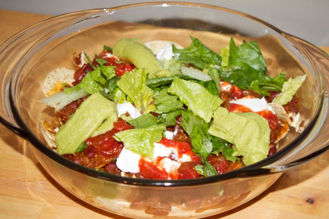 As messy as nachos are, it's hard to make them look pretty when you pile on the chili, guacamole, vegan sour cream and more, but they are so yummy it doesn't matter! They will disappear quickly!
